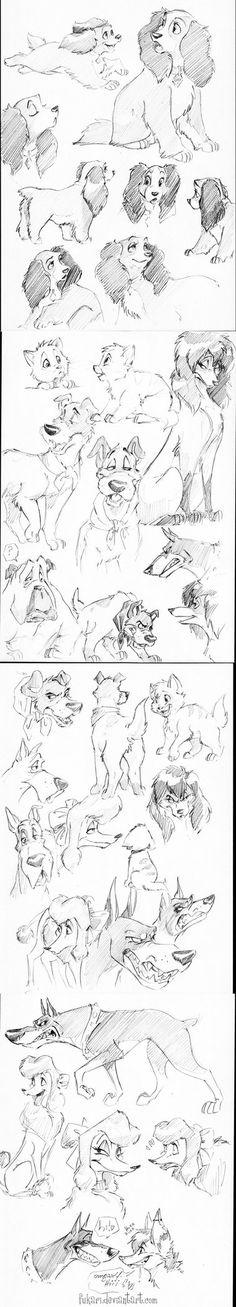 Disney dogs by Fukari on DeviantArt