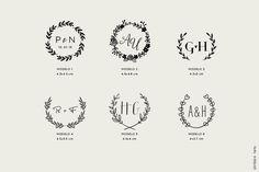 Carimbo Personalizado P - Monograma | Estúdio Tatu | Elo7