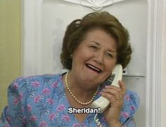 "Patricia Routledge - ""The 'Bouquet' residence!  The lady of the house speaking."" - BBC"