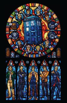 Dr. Who Stained Glass - Full Sized Print by 0ShardsofColor0 on Etsy https://www.etsy.com/listing/80406315/dr-who-stained-glass-full-sized-print