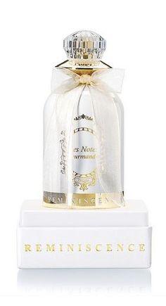 """Reminiscence Les Notes Gourmandes """"Dragee""""   Delicate, Sensuali note, dolce romanticismo per puro incanto ...  Una bottiglia bianca nel colore della mandoral zuccherata..  Una fragranza femminile Creata nel 2012 Floreale, Dolce"""