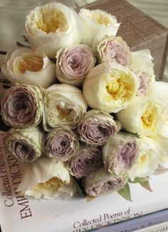 White and Lavendar garden roses - Lavender will be in my bouquet!