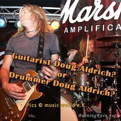 Doug played Drums during the Steamroller tour Do you want to see Drummer Doug Aldrich? * YES * - Share this photo, * NO * - Like this photo. How To Play Drums, Tours, Music, Movie Posters, Movies, Musica, Musik, Films, Film Poster