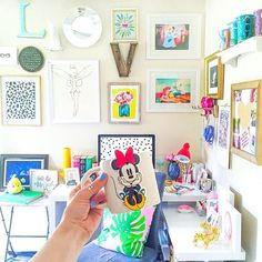 What a gorgeous Disney inspired office! See this Instagram photo by @vandifair • 619 likes Disney Home I Disney Desk I Disney Decorating
