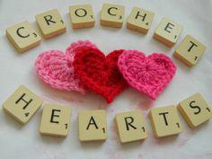 Crochet heart, free pattern by pinkfluffywarrior