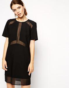 ASOS – T-Shirt-Kleid mit transparenten und blickdichten Einsätzen