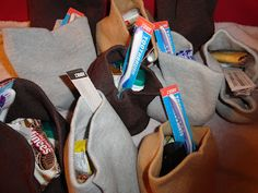 make hat packs for the homeless  A Christmas or service project. Keep a few in the car.