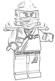 Desene de colorat cu lego ninjago sensei wu  PLANSE DE COLORAT CU