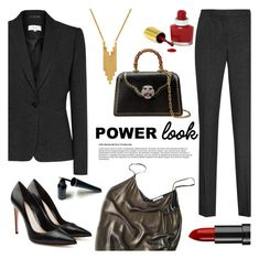 """""""GIRL POWER: Power Look"""" by the-geek-goddess ❤ liked on Polyvore featuring Reiss, Alexander McQueen, Mes Demoiselles..., Rimmel, Lord & Taylor, Gucci, girlpower and powerlook"""