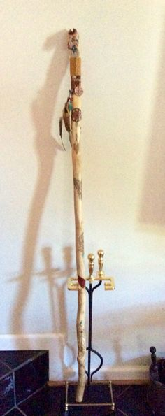 American Indian inspired walking stick.