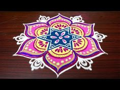 latest simple rangoli designs with 7 dots Small Rangoli Design, Rangoli Kolam Designs, Rangoli Designs With Dots, Rangoli With Dots, Beautiful Rangoli Designs, Simple Rangoli, Muggulu Dots, Sankranthi Muggulu, Latest Rangoli