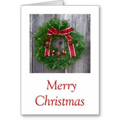 Merry Christmas Greeting Card Design from Janz Art
