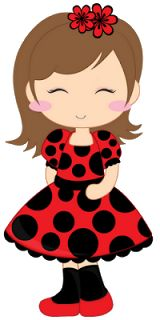 Gifs Linda Lima: Sugar Dolls Ladybug Girl, Ladybug Party, Valentine's Day Emoji, Eid Stickers, Easy Coloring Pages, Bug Crafts, Baby Drawing, Decoupage Art, Crafts With Pictures
