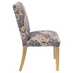 Shannon Side Chair, Navy/Blush Linen $205.00