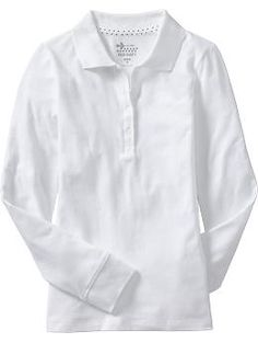 Girls Uniform Pique Polos - A classic style for school or play, this soft pique polo is a must for every girls wardrobe.