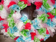 Cupcake Liner Wreath for Spring, Easter or Birthdays www.diybeautify.com