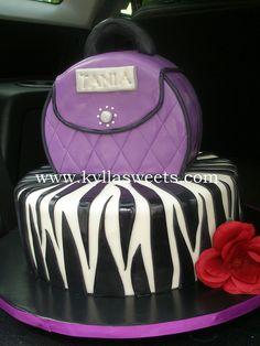 purple purse and zebra cake | Flickr - Photo Sharing!