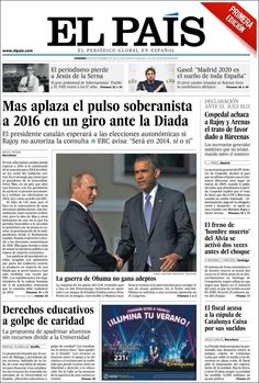 Los Titulares y Portadas de Noticias Destacadas Españolas del 6 de Septiembre de 2013 del Diario El País ¿Que le pareció esta Portada de este Diario Español?