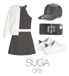 """to the fansing (bts)"" by mazera-kor on Polyvore featuring мода, Zara, MANGO, Sandro, New Look, bts, Suga и yoongi"