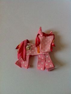My Little Pony ribbon sculpture hair clip by SweetTangerineBoutiq, $7.00