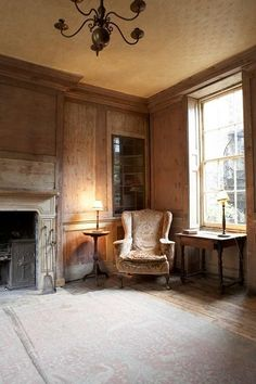 English well-worn country interior