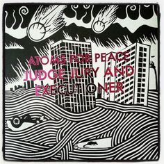 Atoms for Peace - Thom Yorke - Judge, Jury and Executioner Framed Records, Vinyl Records, New Things To Learn, Cool Things To Buy, Atoms For Peace, Vinyl Frames, Thom Yorke, T Art, Vinyl Cover