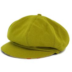 c3f005ef4eb Pre-owned Burberry Green Wool Newsboy Hat ( 83) ❤ liked on Polyvore  featuring