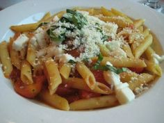 The Penne alla Caprese is only on the menu for a limited time at Buca di Beppo. The dish features fresh mozzarella, ripe cherry tomatoes, ...