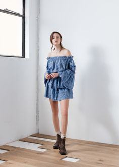 The Aje Marie-Ange Dressin Chambray