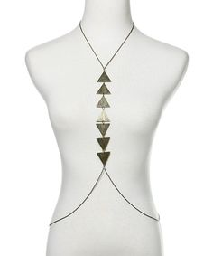 Tribal Triangle Body Necklace - Antique Gold  $10