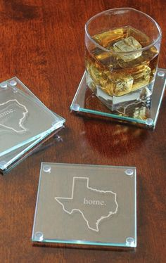 'Home State' glass coasters http://rstyle.me/n/qqzknpdpe