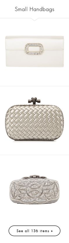 """""""Small Handbags"""" by bnt-cool on Polyvore featuring bags, handbags, clutches, purses, party, white, chain strap purse, white envelope clutch, envelope purse clutch and party handbags"""