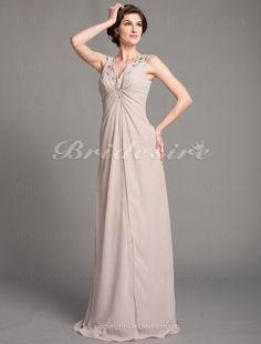 The Green Guide - Sheath/Column Chiffon Floor-length V-neck Mother of the Bride Dress With A Wrap [254325] - US$99.99 : The Green Guide