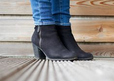Autumnal wardrobe - BP black nubuck side zip heeled ankle boots  | The Lifestyle Archives