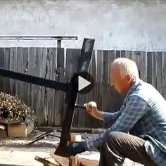 Simple Machine for Splitting Firewood (Video)