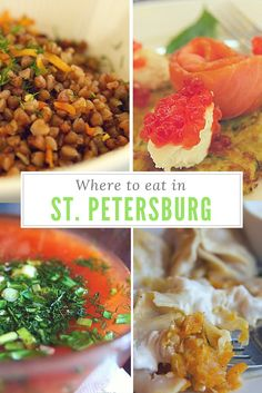 Where to EAT IN St. Petersburg