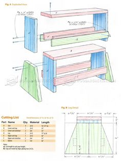 Stacking Sawhorse Bench - Workshop Solutions