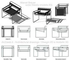 Bauhaus Chair, Cool Furniture, Furniture Design, Wassily Chair, Chair Drawing, Industrial Design Sketch, Bauhaus Design, Marcel Breuer, Chill