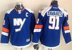 "$34.88 at ""MaryJersey"" (maryjerseyelway@gmail.com) #91 John Tavares - Islanders Baby Blue 2014 Stadium Series Stitched NHL Jersey"
