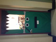 My Halloween door decoration for my classroom: Frankenstein!