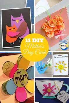 DIY Mother's Day Cards featured on Kidz Activities