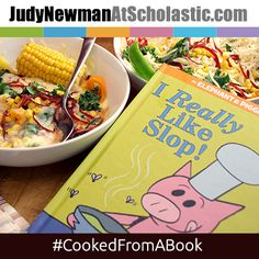 Check out ‪Cooked from a Book for meal inspired by ELEPHANT AND PIGGIE. The whole family can read the book, cook the meal, and enjoy eating together! #JNBlog #CookedFromABook #Recipe #Cooking #MoWillems