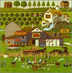 Charles Wysocki - Apple Butter Makers