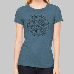 671b1a64d Sacred Geometry Shirt for Women | Geometric Science Graphic Tees, Cool  Tshirts, Triblend Shirt