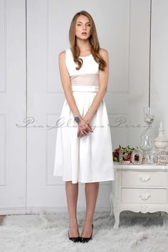Ambrosia in and Arriane in by Spring Summer 2015, Fitted Bodice, White Dress, Ivory, Skirts, Model, How To Wear, Collection, Tops