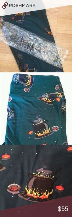 LuLaRoe OS Halloween Leggings Cauldron & Pumkins LuLaRoe OS Halloween Leggings in Teal/Dark Green color with Cauldrons & small pumpkins These Halloween prints are rare, get your unicorns  from the Halloween capsule collection.  I went a little overzealous on purchasing Lularoe Halloween leggings.  It can get addicting! I'm posting some on here and deciding which of the others I will keep or sell.  If some of the leggings don't sell, I might take off and keep for myself.  Get 15% off when you…