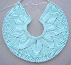 Image hosted by Photobucket.com. The beginning of a top-down baby jacket