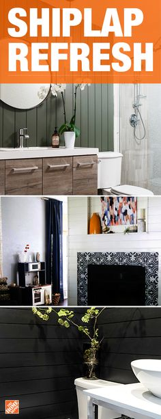 Transform your space with a sleek, sophisticated look. Line your walls with shiplap for a clean and finished look sure to make a beautiful statement. We partnered with bloggers Nicole White, Alex Evjen and Amanda Hendrix to create this space. Click to shop shiplap.