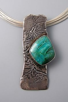 Reticulated silver pendant by Patricia Reinking. Love this piece!