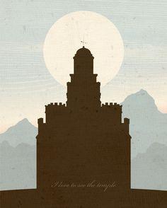LDS Temple Digital Art. Luv. :)